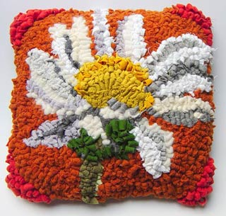 Ox eye daisy  baby cushion