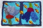 Planets and Plants  kids rug -  hooked and proddy